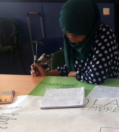 El curso de emprendimiento hizo reflexionar a las alumnas sobre sus habilidades, conocimientos y talentos.